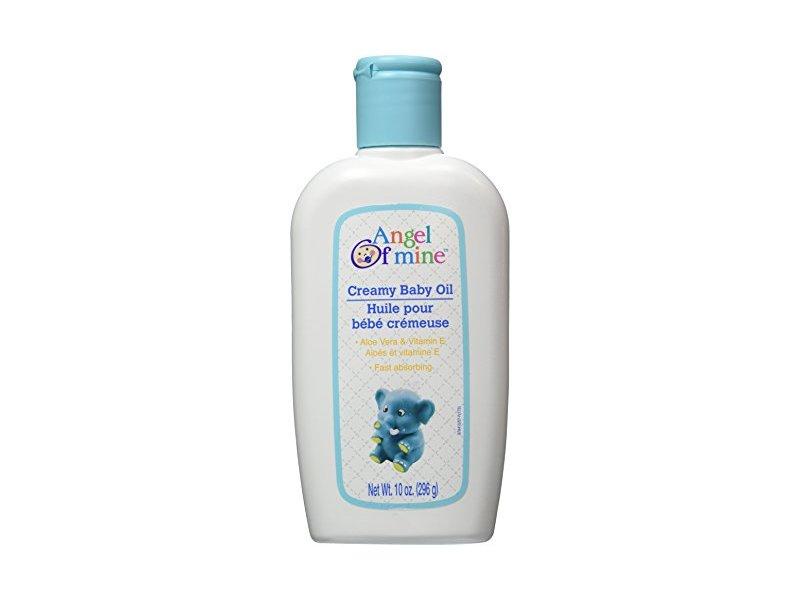 Angel of Mine Creamy Baby Oil with Aloe Vera & Vitamin E, 10 oz/296 g