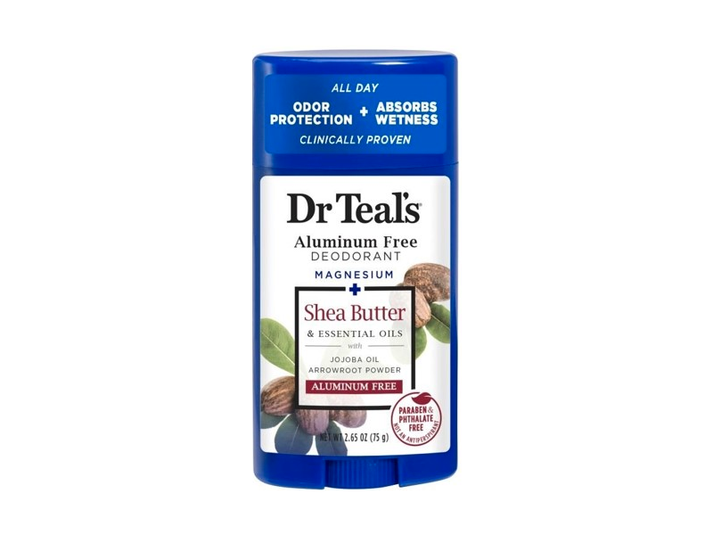 Dr Teal's Aluminum Free Deodorant, Magnesium + Shea Butter & Essential Oils, 2.65 oz/75 g