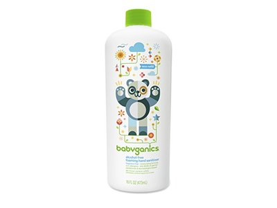 Babyganics Alcohol-Free Foaming Hand Sanitizer Refill Bottle, Fragrance Free, 16 fl oz/473 mL