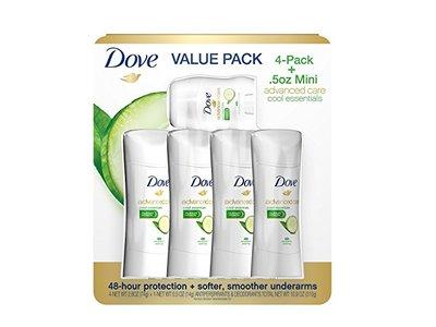 Dove Advanced Care Deodorant, Cool Essentials, 2.6 oz., 4 pk. + .5 oz