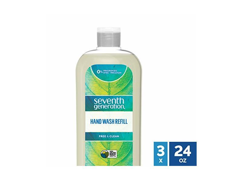 Seventh Generation Hand Wash Refill, Free & Clean Fragrance Free, 24 fl oz