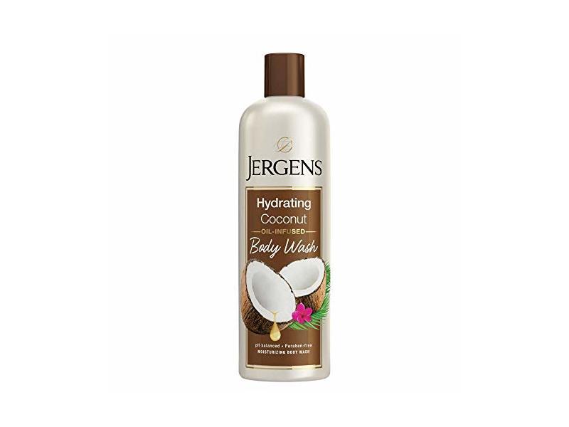 Jergens Hydrating Coconut Body Wash, 22 fl oz/650 mL