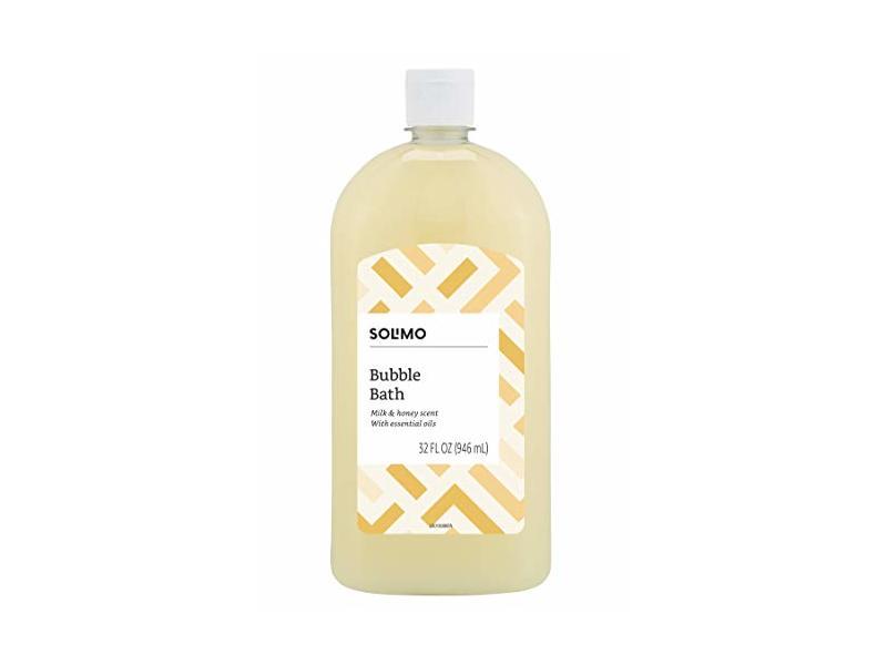 Solimo Milk and Honey Bubble Bath, 32 Fluid Ounce