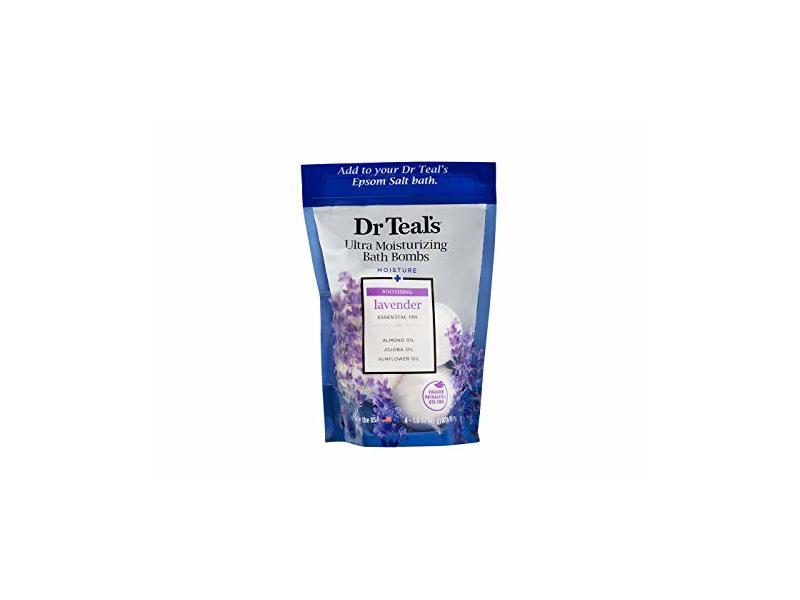 Dr Teal's Ultra Moisturizing Bath Bomb, Lavender, 1.6 oz/45 g
