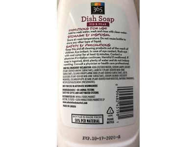 365 Everyday Value, Dish Soap, Fig & Pear, 25 fl oz - Image 4