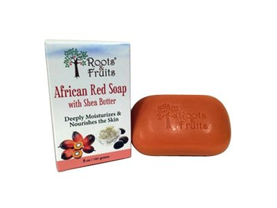 Roots and Fruits African Red Soap, Shea Butter, 5 Ounce