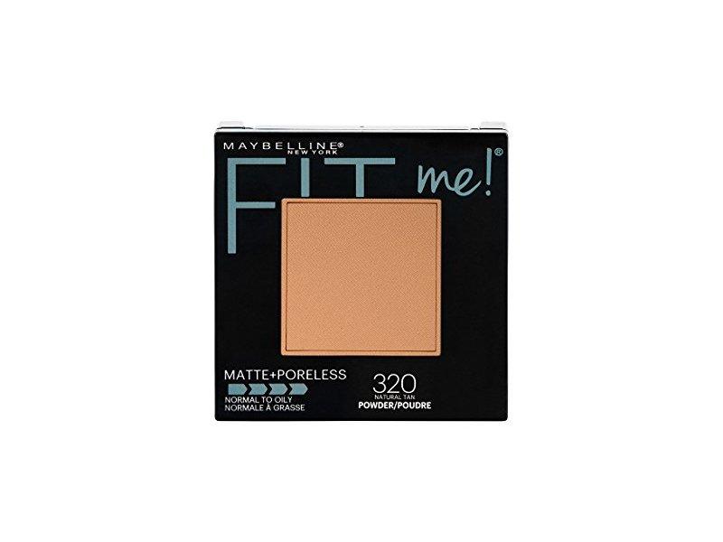 Maybelline New York Fit Me! Matte + Poreless Powder Makeup, 320 Natural Tan, 0.29 oz