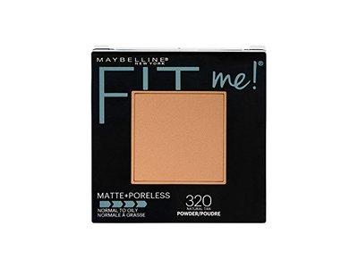 Maybelline New York Fit Me! Matte + Poreless Powder Makeup, 320 Natural Tan, 0.29 oz