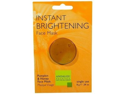 Andalou Naturals Instant Brightening Face Mask, Pumpkin & Honey, 0.28 oz