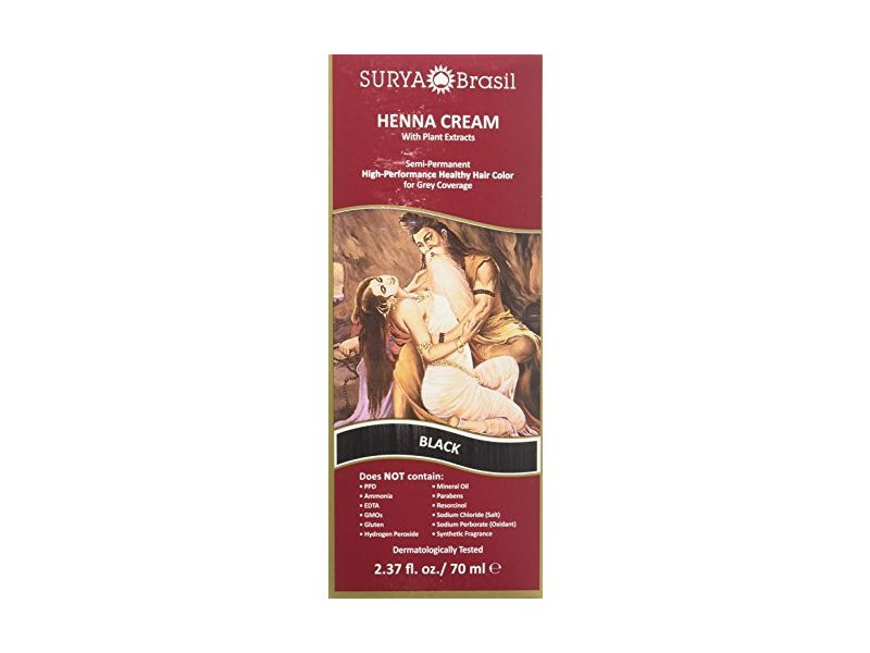 Surya Brasil Products Henna Cream, Black, 2.37 Fluid Ounce