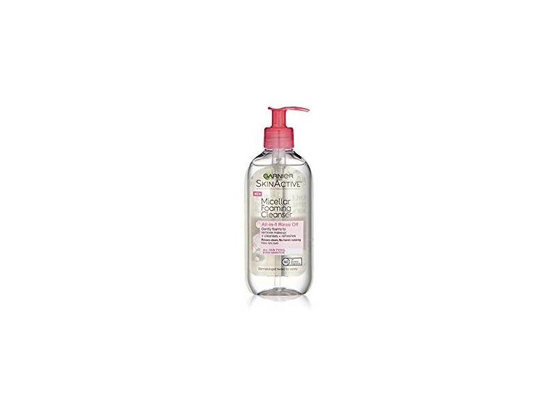 Garnier SkinActive Micellar Foaming Gel Cleanser, All Skin Types, 6.7 fl oz