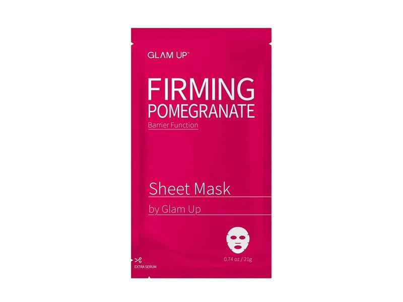 Glam Up Firming Pomegranate Sheet Mask, 0.74 oz