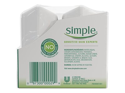 Simple Sensitive Skin Experts Micellar Wipes, Twin Pack, 25 Count - Image 4