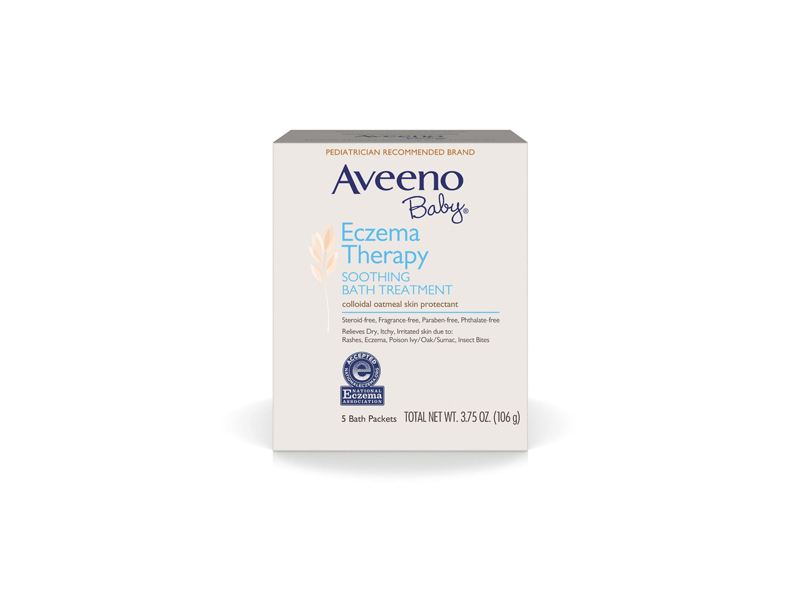 Aveeno Baby Eczema Therapy Soothing Baby Bath Treatment, 5 Count, 3.75oz