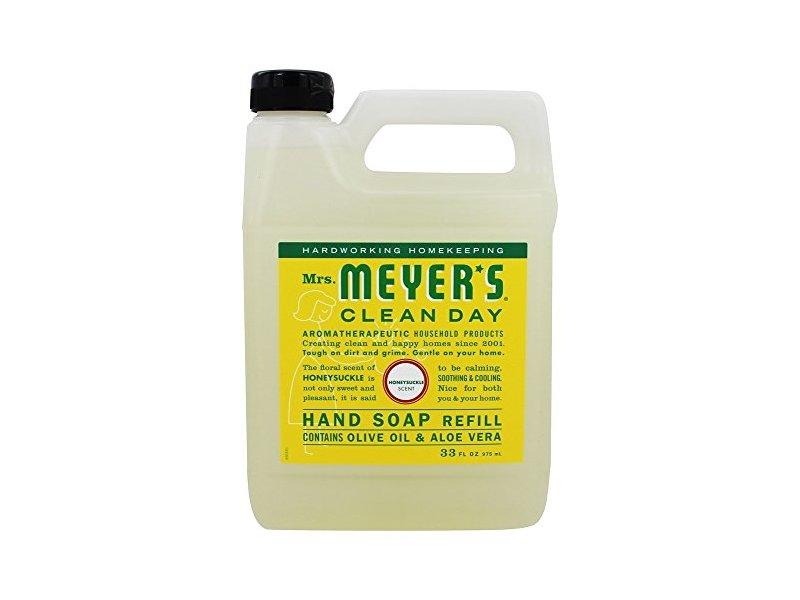 Mrs. Meyer's Clean Day Liquid Hand Soap Refill, Honeysuckle, 33 fl oz