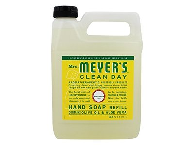 Mrs. Meyer's Clean Day Liquid Hand Soap Refill, Honeysuckle, 33 fl oz