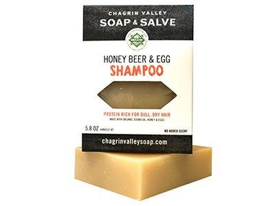Chagrin Valley Soap & Salve Honey Beer & Egg Shampoo Bar, 5.8 oz