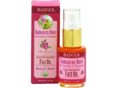 Badger Balm Damascus Rose Antioxidant Face Oil, 1 oz.