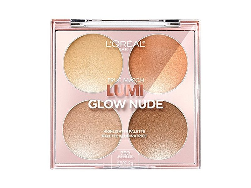 L'Oreal Paris True Match Lumi Glow Nude Highlighter Palette, 750 Sunkissed, 0.26 oz