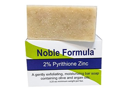 Noble Formula 2% Pyrithione Zinc (ZnP) Argan Oil Bar Soap, 3.25 oz