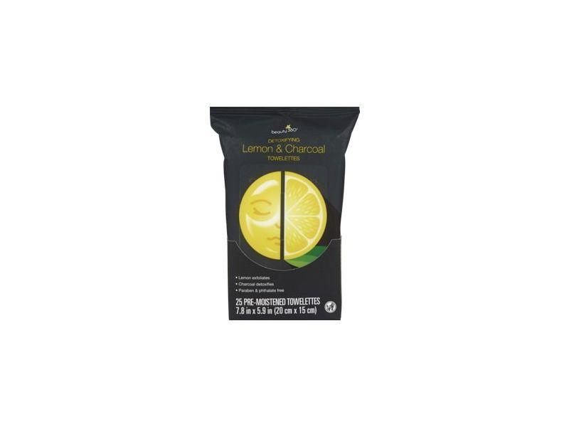 Beauty 360 Lemon & Charcoal Facial Wipes