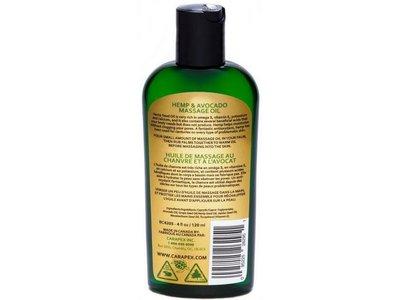 BC Bud Skincare Hemp & Avocado Massage Oil,120 ml /4 fl oz - Image 3