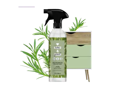 Love Home & Planet Multipurpose Cleaner Spray, Vetiver & Tea Tree, 23 fl oz