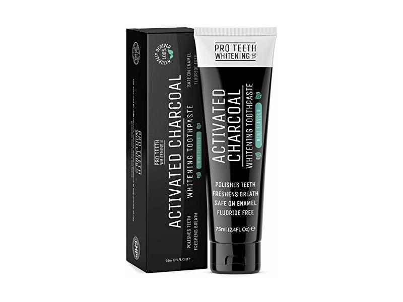 Pro Teeth Whitening Co. Activated Charcoal Whitening Toothpaste, Mint Flavor, 75 mL