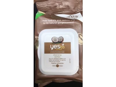 Yes To Coconut Cleansing Wipes, 30 Wipes - Image 3