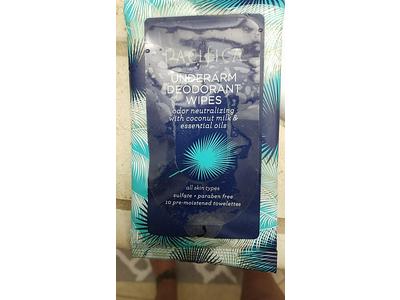 Pacifica Underarm Deodorant Wipes, 10 ct - Image 3