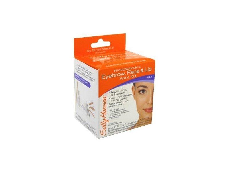 Sally Hansen Eyebrow, Face & Lip Wax, Microwaveable, wax 1.25 oz (35 g), Extrasoothe lotion 0.5 fl oz (14.7 ml)