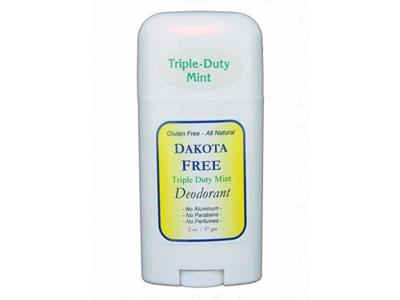 Dakota Free Triple-Duty Mint Deodorant, 2 oz