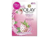 Olay Fresh Outlast Cooling White Strawberry and Mint Beauty Bar, 4 Count - Image 2