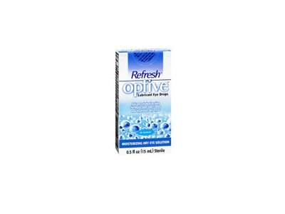 Refresh Optive Lubricant Eye Drops, 0.5 oz (Pack of 6)