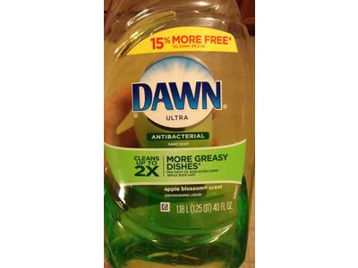 Dawn Ultra Antibacterial Hand Soap/Dishwashing Liquid, Apple Blossom, 40 fl oz - Image 4