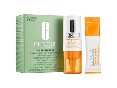 Clinique Fresh Pressed 7-day System with Pure Vitamin C, 1 vial .29 fl oz, 7 packettes 0.01 oz