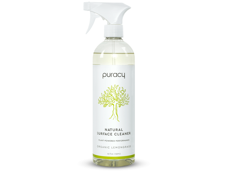 Puracy Natural Surface Cleaner, Organic Lemongrass, 25 fl oz (739 mL)