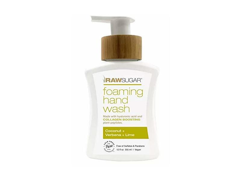 Raw Sugar Foaming Hand Wash Coconut + Verbena + Lime, 12 fl oz