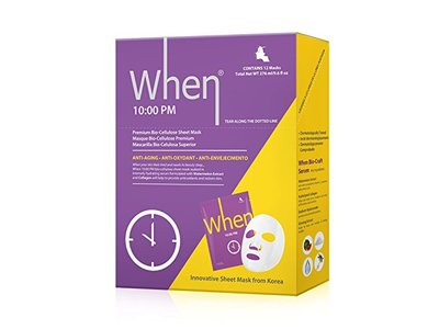 When 10:00 PM Premium Bio-Cellulose Anti-Aging Sheet Masks for Face (Pack of 12)