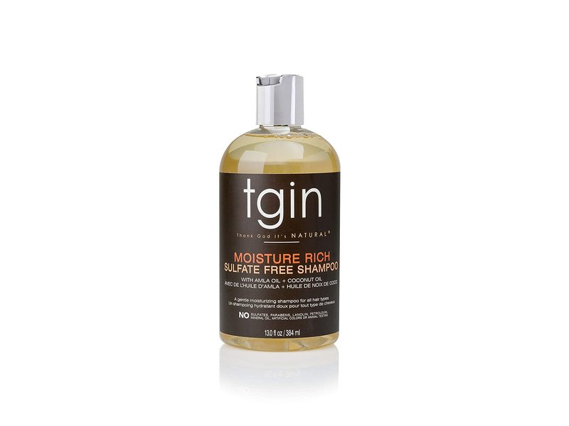Tgin Thank God It's Natural Moisture Rich Sulfate Free Shampoo, 13.0 fl oz / 384 ml