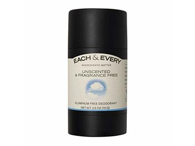 Each & Every Natural Aluminum-Free Deodorant, Fragrance Free, 2.5 Oz.