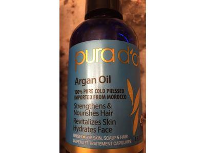 Pura d'or Organic Argan Oil for Skin, Scalp & Hair, 4 fl. oz. - Image 3