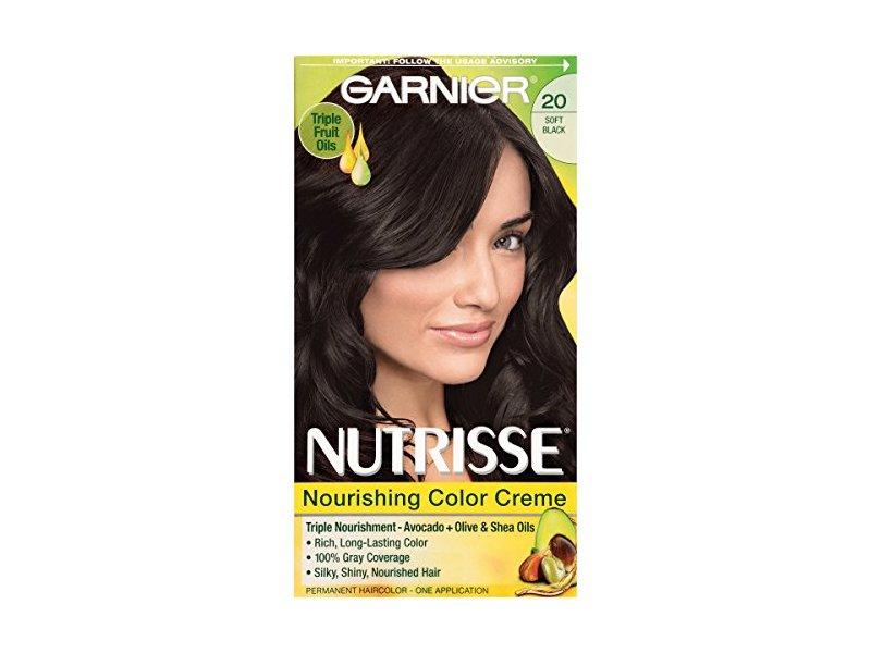 Garnier Nutrisse Nourishing Color Creme, 20 Soft Black (Black Tea)