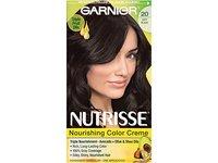 Garnier Nutrisse Nourishing Color Creme, 20 Soft Black (Black Tea) - Image 2
