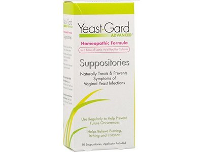 Yeast Gard Homeopathic Formula Suppositories - 10 Suppositories, 12 Pack