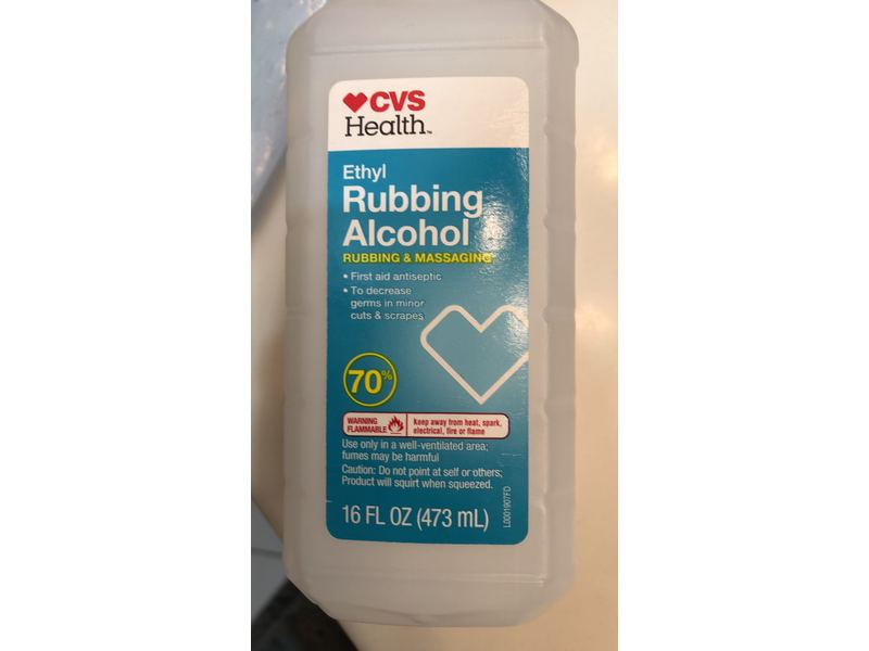CVS Health Ethyl Rubbing Alcohol, 16 fl oz