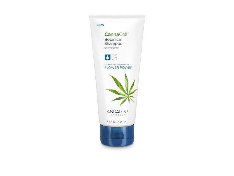 Andalou Naturals CannaCell Botanical Shampoo, Flower Power, 8.5 Ounce