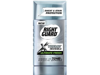 Right Guard Xtreme Clear Antiperspirant Deodorant Invisible Solid, Fresh, 2.6 Ounce