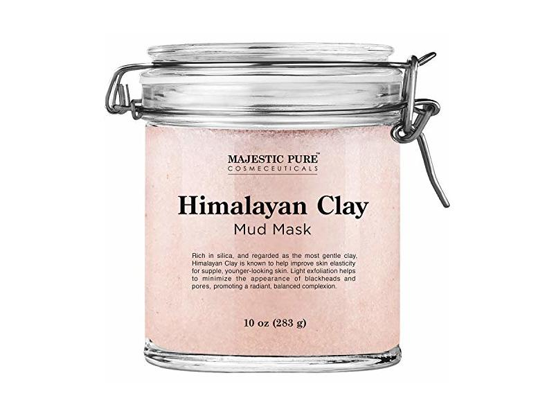 Majestic Pure Himalayan Clay Mud Mask for Face and Body, 10 oz