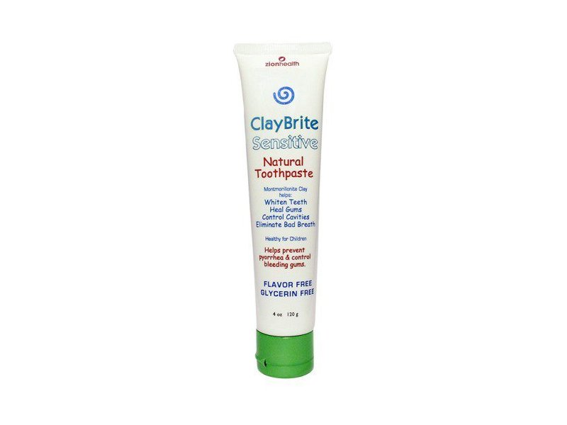 Claybrite Sensitive Natural Toothpaste 4 Oz Ingredients